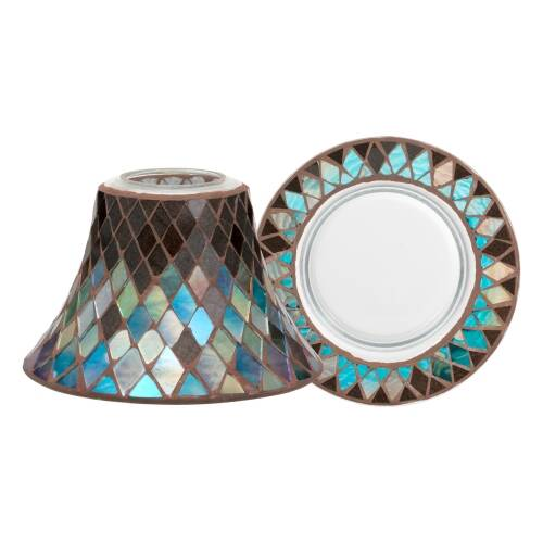 Autumn Mosaic - Large Shade & Tray Set - The Candle Scentre