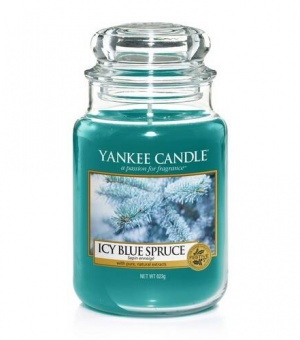 Icy Blue Spruce - Large Jar Candle - The Candle Scentre