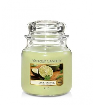 Lime and Coriander - Medium Jar Candle - The Candle Scentre