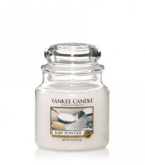 Baby Powder- Medium Jar Candle - The Candle Scentre