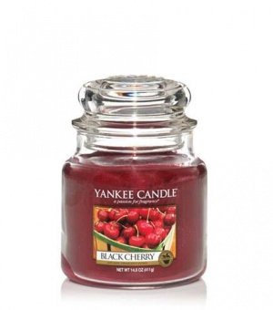 Black Cherry- Medium Jar Candle - The Candle Scentre