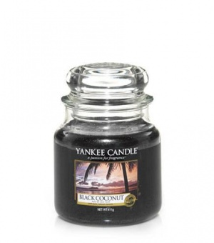 Black Coconut - Medium Jar Candle - The Candle Scentre