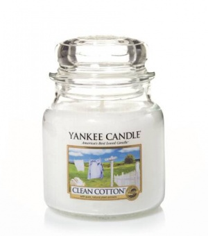 Clean Cotton - Medium Jar Candle - The Candle Scentre