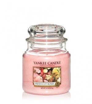 Fresh Cut Roses - Medium Jar Candle - The Candle Scentre
