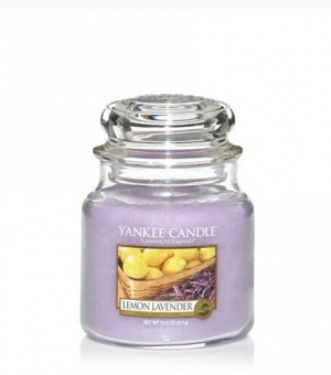 Lemon Lavender - Medium Jar Candle - The Candle Scentre