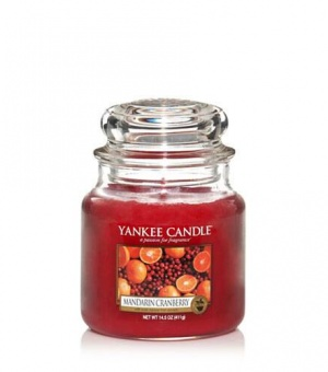 Mandarin Cranberry - Medium Jar Candle - The Candle Scentre
