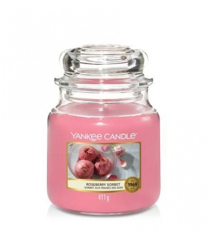 Roseberry Sorbet - Medium Jar Candle - The Candle Scentre